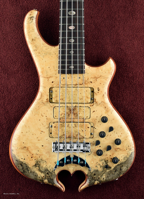 Alembic Series Ii Bass Custom Jazz Mod Master Volume Tone And Balance Control Burl Maple Buckeye