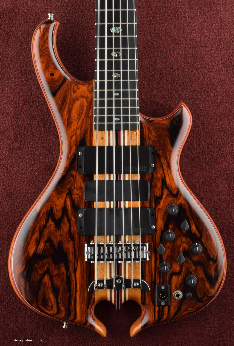 Alembic Series Ii Bass Custom Jazz Mod Master Volume Tone And Balance Control Flatsawn Coco Bolo
