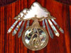 Inlaid Bronze Alembic Logo With Shell and Rays