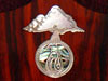 Inlaid Bronze Alembic Logo With Shell