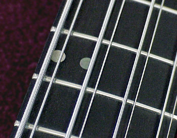 black dot inlays