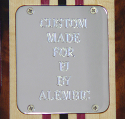 Engraved Backplate