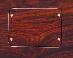 Continuous wood backplates