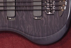 Quilted Maple Black Stain
