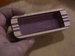 inside wooden pickup