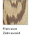 Flatsawn Zebrawood