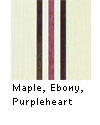 Maple with Purpleheart and Ebony