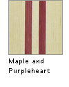 Maple and Purpleheart