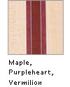 Maple, Purpleheart, Vermilion